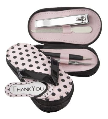 Pink Flip Flops Pedicure Set